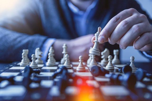 A Person Playing Chess
